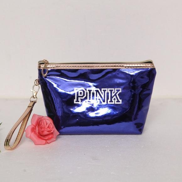 6db2233d58 ... PINK Holographic Makeup Bag. M 5b4cb2a37386bc645778d8b7